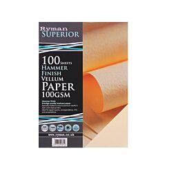 Ryman Hammer Finish Paper A4 100gsm 100 Sheets Vellum