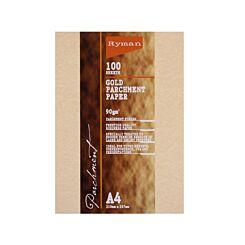 Ryman Parchment Paper A4 90gsm 100 Sheets Gold