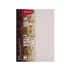 Ryman Parchment Paper A4 90gsm 100 Sheets Ivory