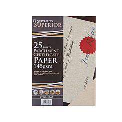 Ryman Certificate Paper A4 Pack of 250 Cream