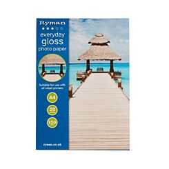 Ryman Everyday Gloss Photo paper A4 150gsm 20 Sheets