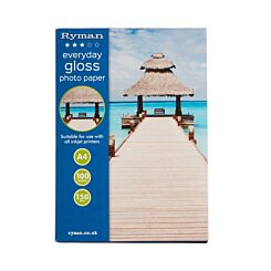 Ryman Everyday Gloss Photo paper A4 150gsm 100 Sheets