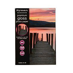 Ryman Premium Gloss Photo Paper A4 250gsm 100 Sheets
