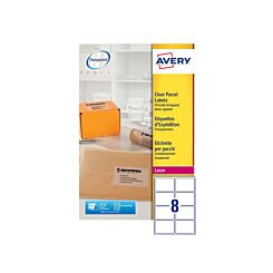 Avery Clear Laser Parcel Labels 99.1 x 67.7mm 8 Per Sheet 25 Sheets L7565 Clear
