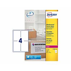 Avery Weatherproof Laser Parcel 100 Labels 99.1 x 139 mm