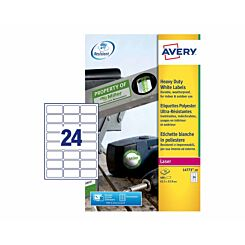 Avery Heavy Duty White Laser 480 Labels 64.5 x 33.9 mm