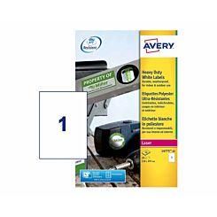 Avery Heavy Duty White Laser 480 Labels 210 x 297 mm