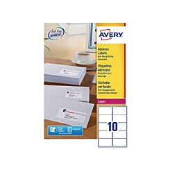 Avery Laser Labels 99.06 x 57mm Pack of 100