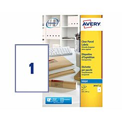 Avery Full Page Label A4 Pack of 25 Clear