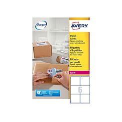 Avery Laser Labels 99.1x93.1mm 6 Per Sheet 100 Sheets L7166 Opaque White