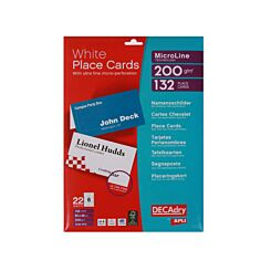 Decadry Microline Place Cards Pack of 132