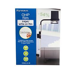 Ryman Inkjet or Write on OHP Film A4 10 Sheets
