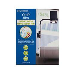 Ryman Colour Mono Laser Copier OHP Film