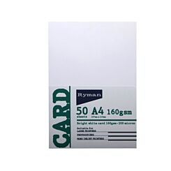 Ryman Card A4 160GSM Pack of 250 White