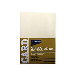 Ryman Card A4 160gsm 50 Sheets Ivory