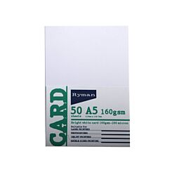 Ryman Card A5 160gsm 50 Sheets