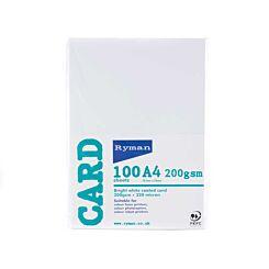 Ryman Card A4 200gsm 100 Sheets