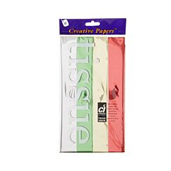 Creativity Metallized Tissue Assortment Pack of 12