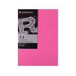 Ryman Artcard A4 210gsm Pack 20