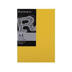 Ryman Artcard A4 210gsm Pack of 20 Yellow