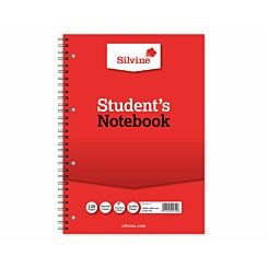 Silvine Student Notebook A4 120 Pages Pack of 12