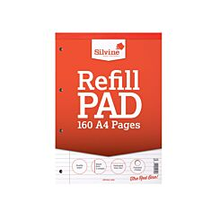 Silvine Wiro Refill Pad 160 Pages A4 Pack of 6