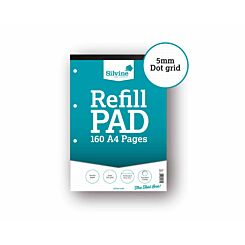 Silvine Dot Grid Refill Pad A4 160 Pages