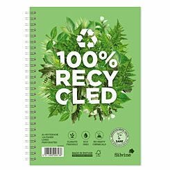 Silvine Recycle Wire Notebook 120 Page A5
