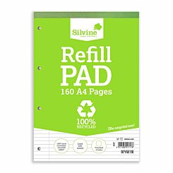Silvine Recycle Refill Pad 160 Page A4 Pack of 6