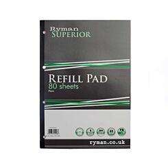 Ryman Superior Pad A4 Plain 160 Pages 80 Sheets