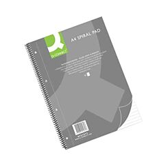 Q-Connect Spiral Pad Executive A4+ 80 Leaf Ruled Feint and Margin 70gsm Pack of 5
