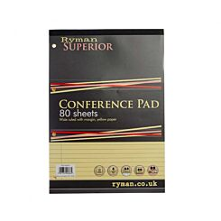 Ryman Superior Pad A4 Wide Ruled With Margin 160 Pages 80 Sheets