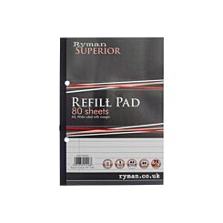 Ryman Superior Pad A5 Ruled Side Bound 160 Pages 80 Sheets