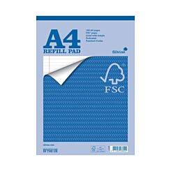 Silvine Everyday FSC Refill Pad A4 160 Pages Pack of 5