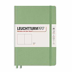 Leuchtturm1917 Hard Cover Notebook Plain A5 Sage green