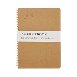 Nu A4 Kraft Wiro Notebook 100gsm 80 Sheets
