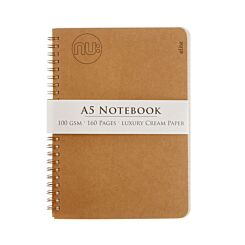 Nu A5 Kraft Wiro Notebook 100gsm 80 Sheets