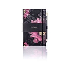 Castelli Midnight Floral Ruled Notebook A5
