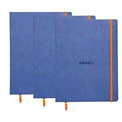 Rhodiarama B5 Ruled Notebook Pack of 3 Sapphire