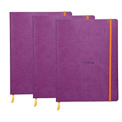 Rhodiarama B5 Ruled Notebook Pack of 3 Purple