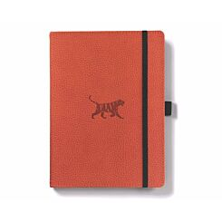 Dingbats Wildlife Journal Notebook Ruled A5 Orange Tiger