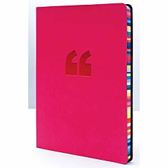 Collins Rainbow Edge Notebook Ruled A5 240 Pages Pink
