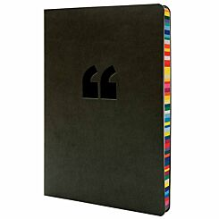 Collins Rainbow Edge Notebook Ruled A5 240 Pages Black