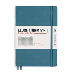 Leuchtturm Notebook Squared A5 Stone Blue