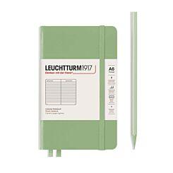 Leuchtturm Hardcover Ruled A6 Notebook Sage Green