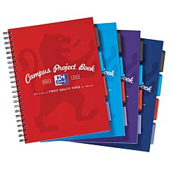 Oxford Campus Project Book A4 + 140 Page Assorted