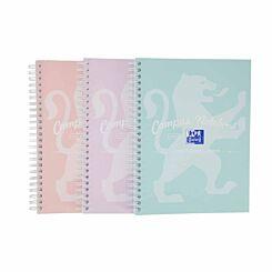 Oxford Campus Pastel A5 Wirebound Notebook Pack of 3