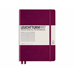 Leuchtturm1917 Hardcover Notebook Ruled A5 Port Red