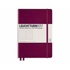 Leuchtturm1917 Hardcover Notedbook Dotted A5 Port Red