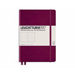 Leuchtturm1917 Hardcover Notebook Plain A5 Port Red